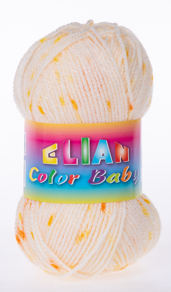 Knitting yarn Color Baby - 900 yelow - Color Baby 900