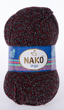 Knitting yarn Vega - 21370 red