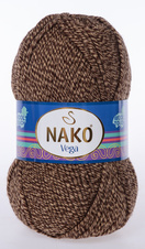 Knitting yarn Vega - 21299 brown