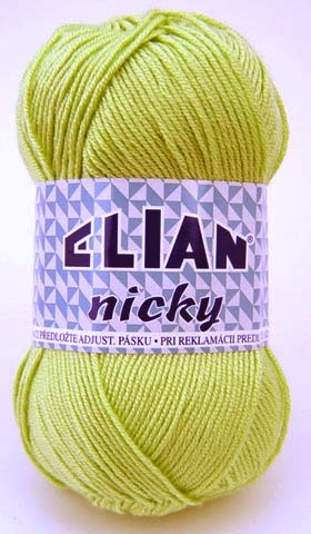 Knitting yarn Nicky 4853 - green - Yarn Nicky 4853