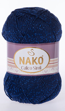 Knitting yarn Calico Simli 148 - blue