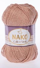 Knitting yarn Calico Simli 11220  - brown