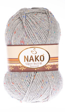 Strickgarn Super Inci Hit Tweed 195 - grau
