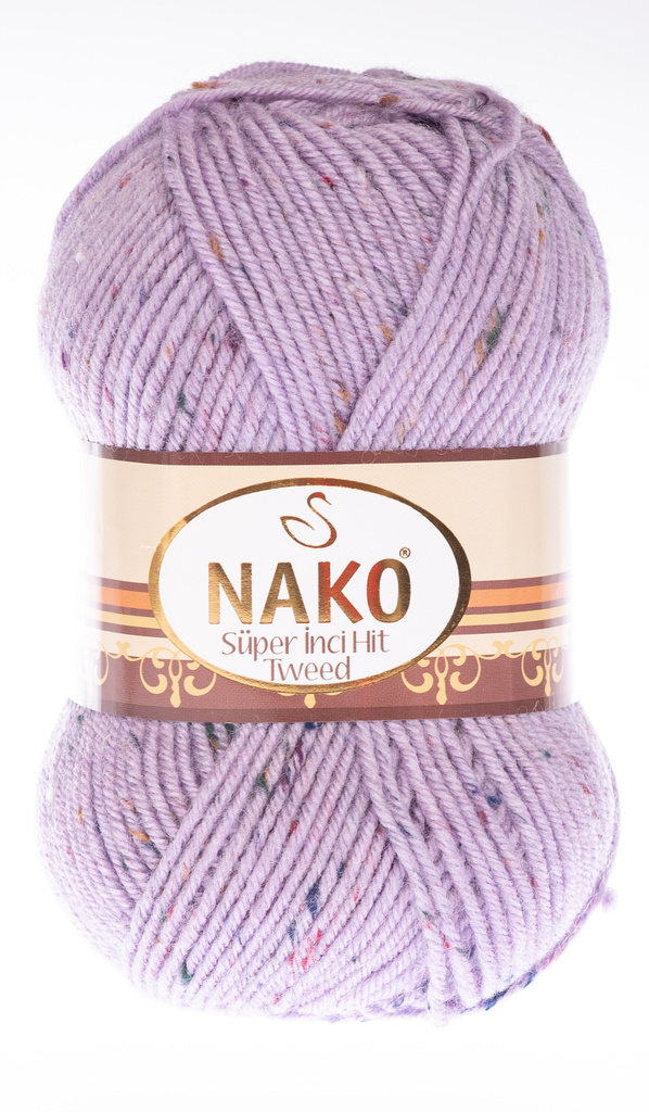 Knitting yarn Super Inci Hit Tweed 6888 - purple - Knitting yarn nako hit tweed 6888