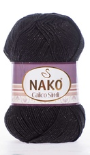 Knitting yarn Calico Simli 217 black