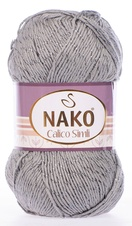 Knitting yarn Calico Simli 10255 - grey