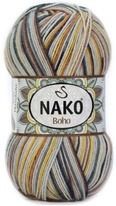 Knitting yarn Nako Boho 82453 - grey