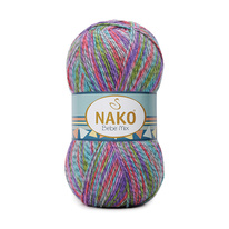 Knitting yarn Nako Bebe Mix 86838 - blue mélange