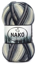 Knitting yarn Nako Boho 82449 - black