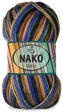 Knitting yarn Nako Boho 32450 - blue