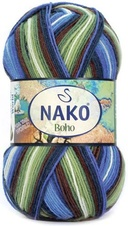 Knitting yarn Nako Boho 82451 - green