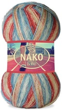 Knitting yarn Nako Boho 32452 - red