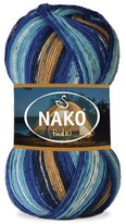 Knitting yarn Nako Boho 32449 - blue