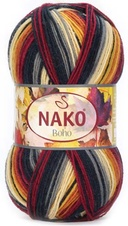 Knitting yarn Nako Boho  82445 - brown