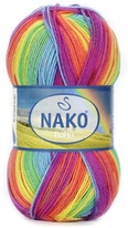 Knitting yarn Nako Boho 82443 - red