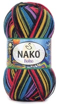 Knitting yarn Nako Boho 82455 - black