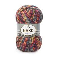 Strickgarn Nako Pop Mix 86593  - rot