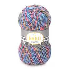 Strickgarn Nako Pop Mix 86637 - blau