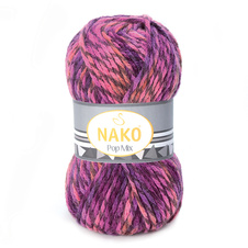 Strickgarn Nako Pop Mix 86595 - lila