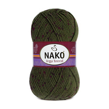 Knitting yarn Vega Tweed - 35038 green