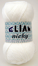 Knitting yarn Nicky 208 - white