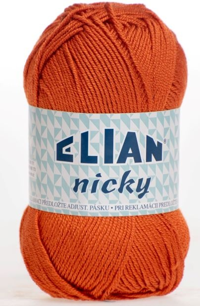 Strickgarn Nicky  6963 - orange - Elian Nicky 6963