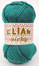 Knitting yarn Nicky 132 - green
