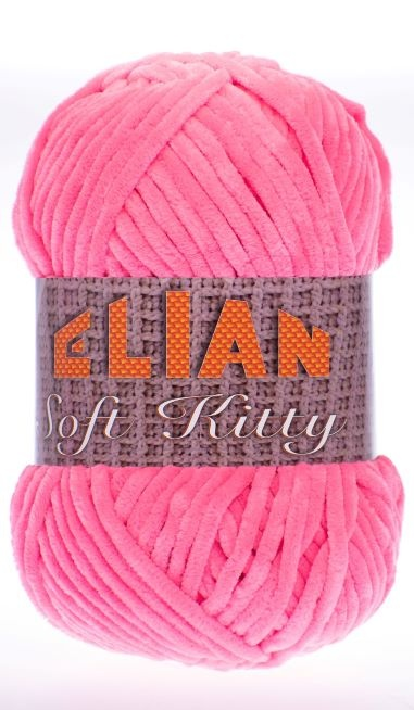 Knitting yarn Soft Kitty 97444 - pink - Yarn Soft Kitty 97444