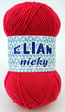 Knitting yarn Nicky 207 - red