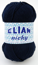 Knitting yarn Nicky 209 - blue