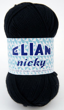 Knitting yarn Nicky 217 - black