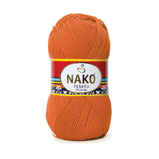 Knitting yarn Nako Pirlanta Wayuu 11255 - orange, microfibre