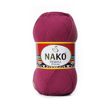 Knitting yarn Nako Pirlanta Wayuu 6736 - red, microfibre