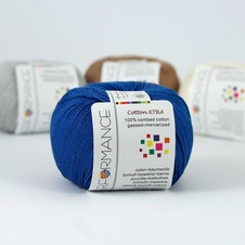 Cotton Xtra 98  - modrá 50g 150m