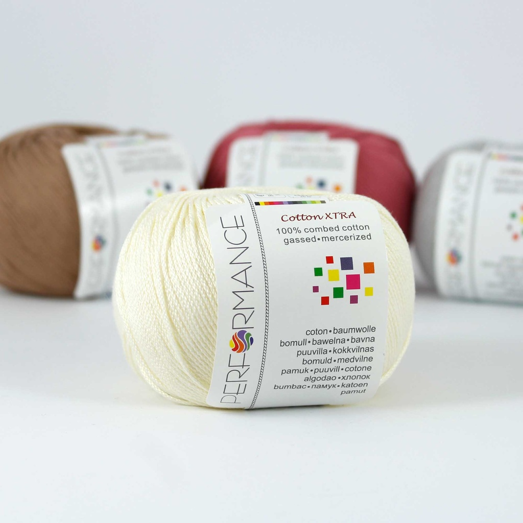 Cotton Xtra 172 - beige 50g 150m - Cotton yarn Xtra 172 - beige