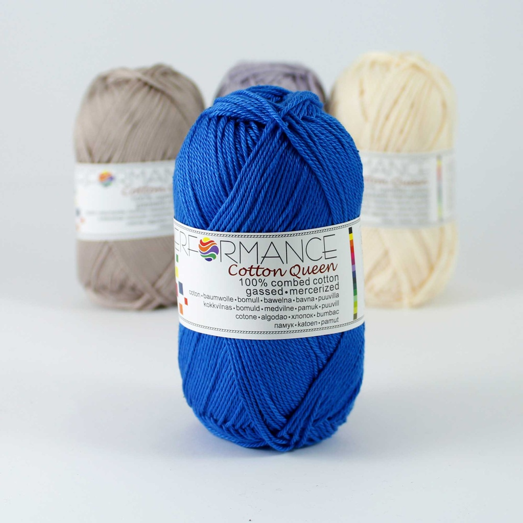 Cotton Queen 100 - blau 50g 125m - Baumwollgarn Queen 100 - blau
