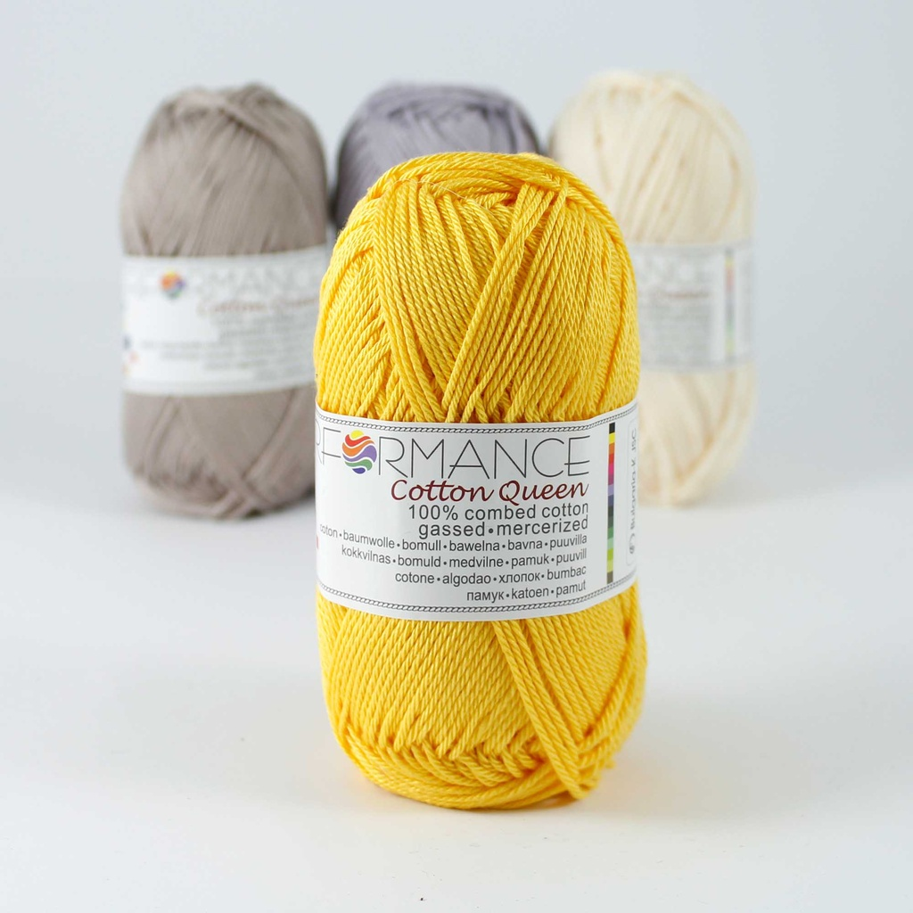 Fil au crochet Cotton Queen 010 - jaune