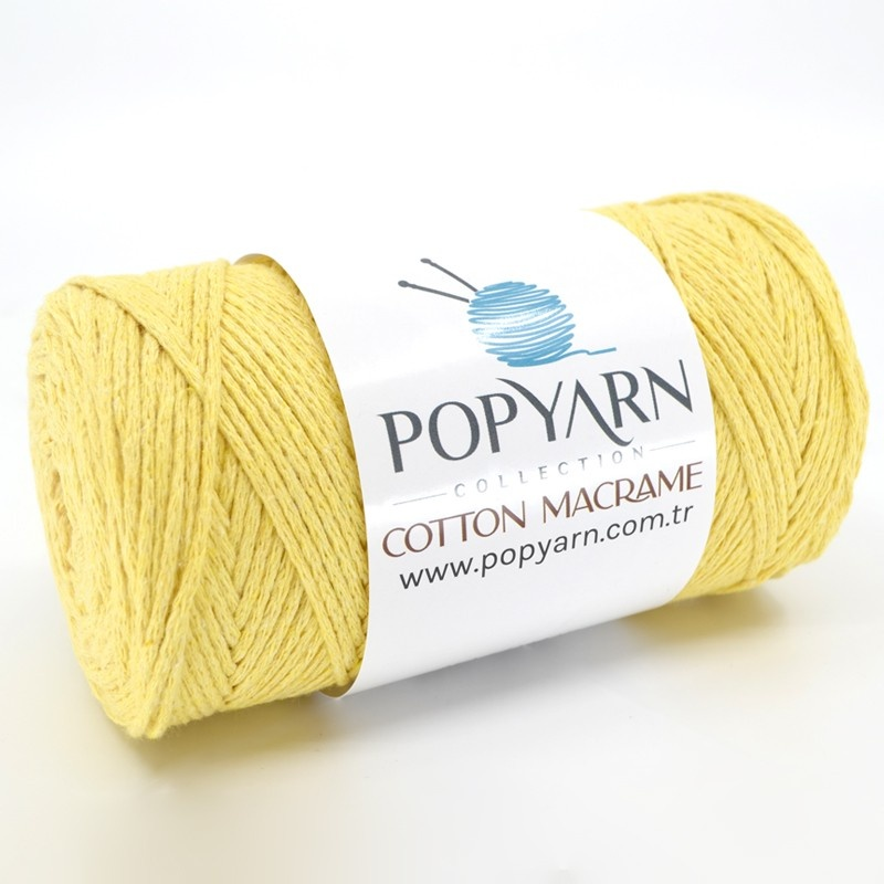 Cotton Macrame B005 - gelb, 250 g 190 m  - Cotton Macrame B005 - gelb
