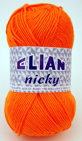 Knitting yarn Nicky 5074 - orange - Yarn Nicky 5074