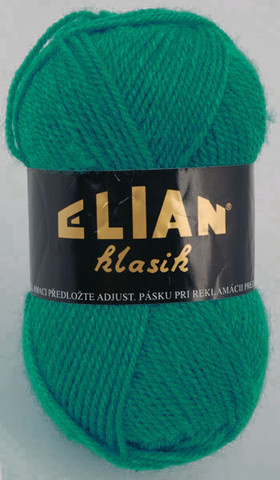 Knitting yarn Klasik 132 - green - Yarn Klasik 132