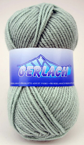 Knitting yarn Gerlach 3048 - green - Yarn Gerlach 3048