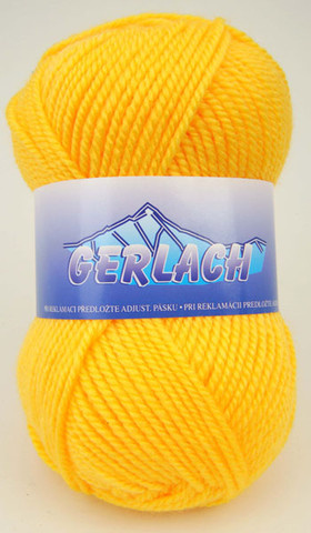 Knitting yarn Gerlach 4774 - yellow - Yarn Gerlach 4774