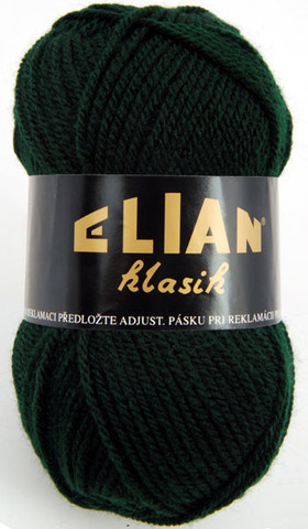 Knitting yarn Klasik 204 - green - Yarn Klasik 204