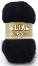 Knitting yarn Elegance 217 - black