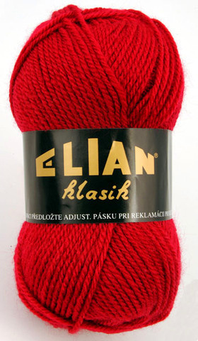Knitting yarn Klasik 207 - red - Yarn Klasik 207
