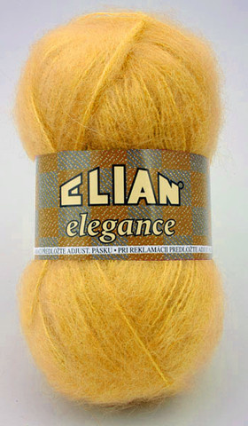 Knitting yarn Elegance 5095 - yellow - Yarn Elegance  5095