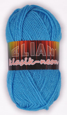 Knitting yarn Klasik Neon 6905 - blue