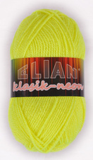 Knitting yarn Klasik Neon 10910 - yellow