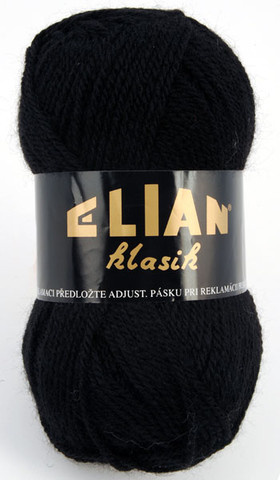 Knitting yarn Klasik 217 - black - Yarn Klasik 217