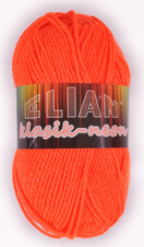 Knitting yarn Klasik Neon 10917 - orange